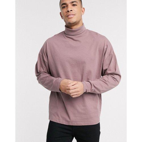 T-shirt manches longues oversize avec col roulé - ASOS DESIGN - Modalova