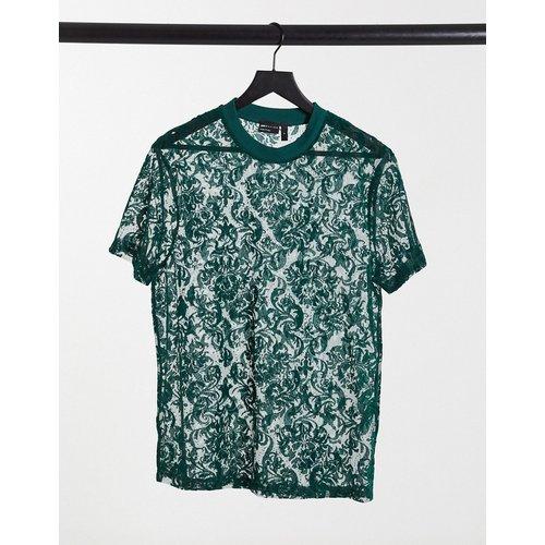 T-shirt motif cachemire à effet dévoré - ASOS DESIGN - Modalova