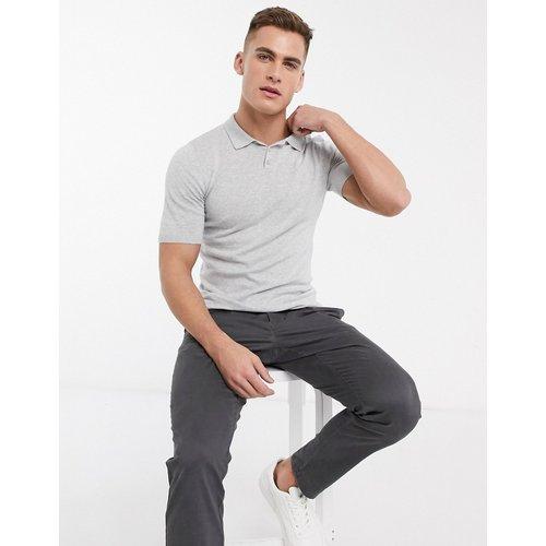T-shirt moulant à col style polo - clair - ASOS DESIGN - Modalova