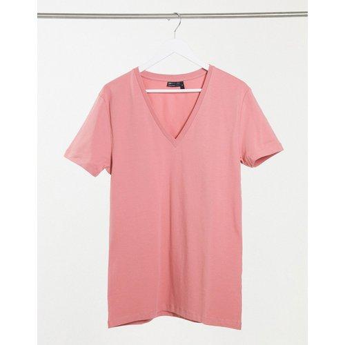 T-shirt moulant à col V plongeant - Vieux - ASOS DESIGN - Modalova
