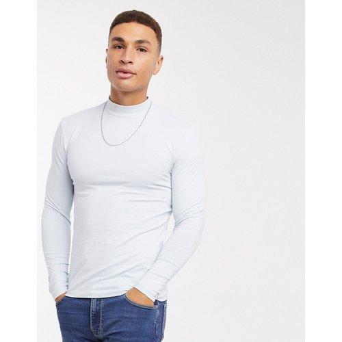 T-shirt moulant col roulé à manches longues - ASOS DESIGN - Modalova