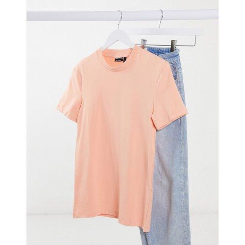 T-shirt moulant en tissu biologique - Rose - ASOS DESIGN - Modalova