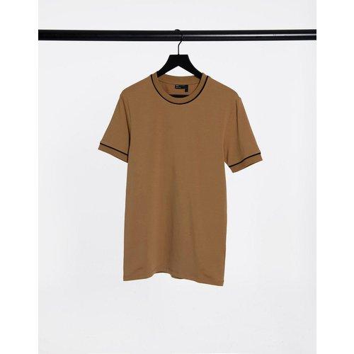 T-shirt moulant habillé à liseré - ASOS DESIGN - Modalova