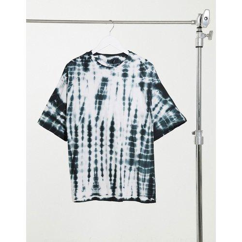 T-shirt oversize à effet tie-dye délavé - Monochrome - ASOS DESIGN - Modalova