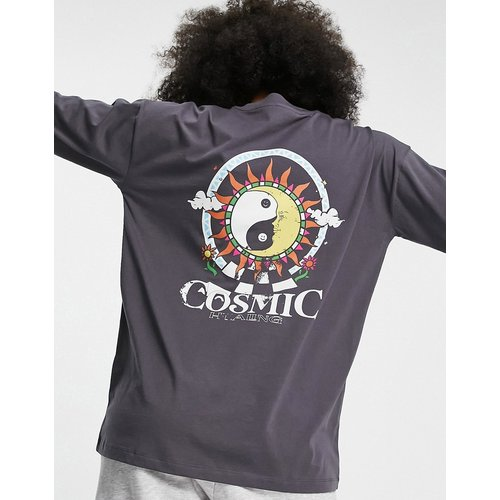 T-shirt oversize à imprimé Cosmic - Anthracite - ASOS DESIGN - Modalova