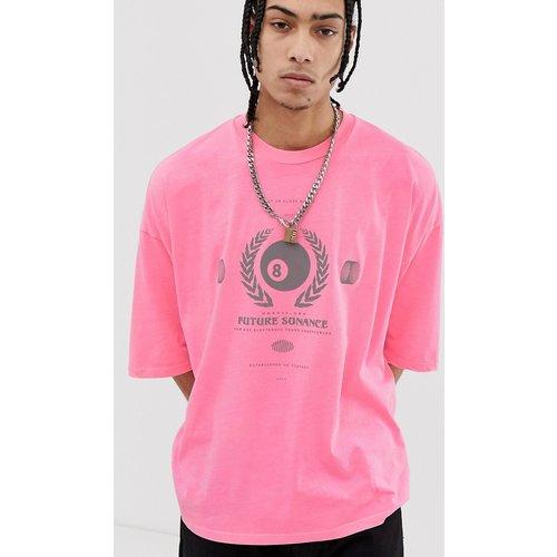 T-shirt oversize à imprimé réfléchissant - Fluo délavé - ASOS DESIGN - Modalova
