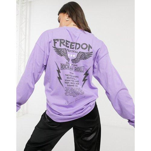 T-shirt oversize à manches longues avec imprimé Rock graphique - ASOS DESIGN - Modalova