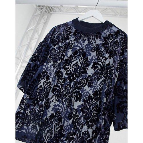 T-shirt oversize à motif dévoré transparent - ASOS DESIGN - Modalova