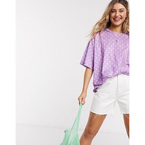 T-shirt oversize à pois - Lilas - ASOS DESIGN - Modalova
