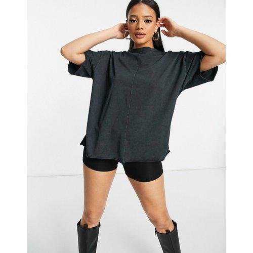 T-shirt oversize à surpiqûres - Anthracite délavé - ASOS DESIGN - Modalova