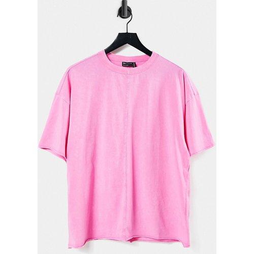 T-shirt oversize à surpiqûres - délavé - ASOS DESIGN - Modalova