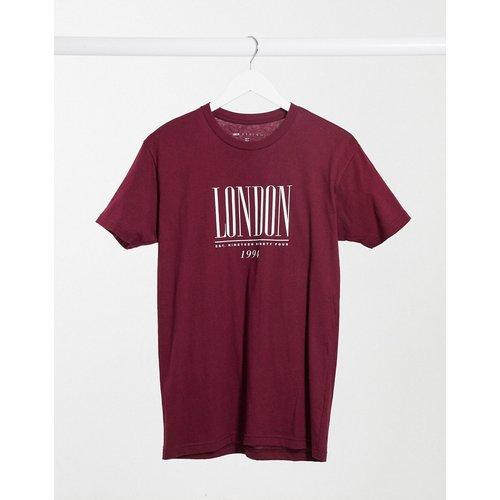 T-shirt oversize avec logo London - foncé - ASOS DESIGN - Modalova