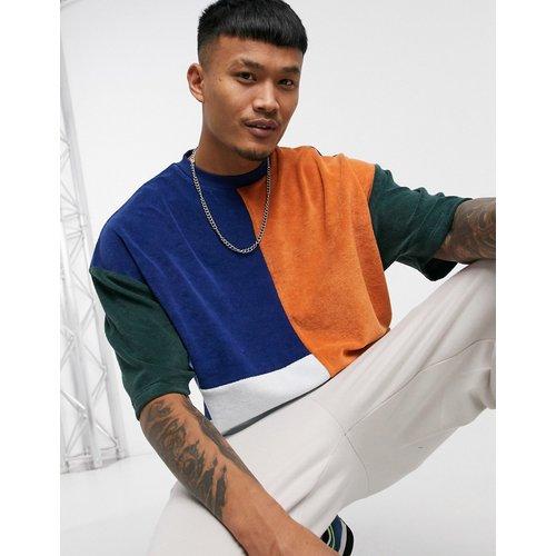 T-shirt oversize color block en tissu éponge - ASOS DESIGN - Modalova