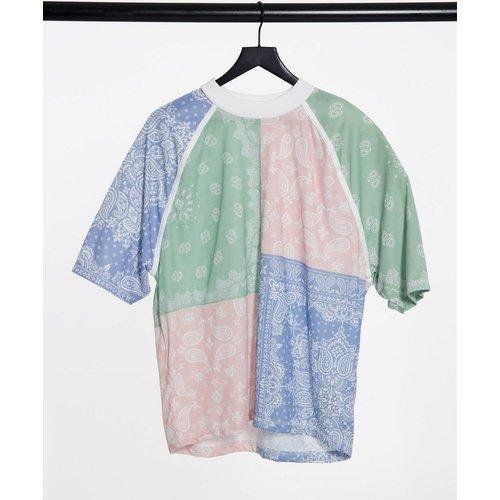 T-shirt oversize en coton biologique à col montant - ASOS DESIGN - Modalova
