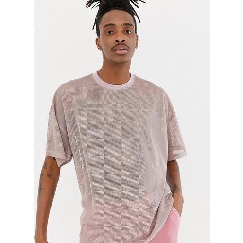 T-shirt oversize en tulle avec coutures apparentes sur les empiècements - ASOS DESIGN - Modalova