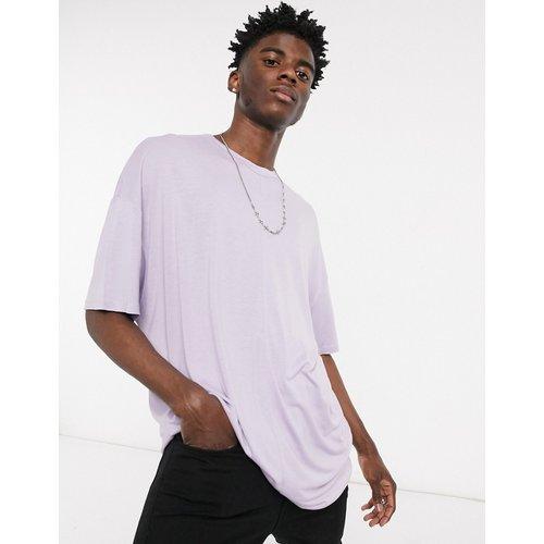 T-shirt oversize long en viscose - Lilas pâle - ASOS DESIGN - Modalova
