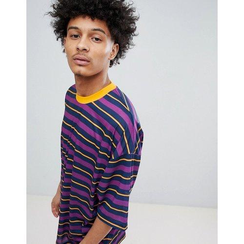 T-shirt oversize - Rayures violettes - ASOS DESIGN - Modalova
