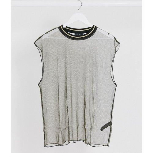 T-shirt oversize sans manches en tulle transparent - ASOS DESIGN - Modalova