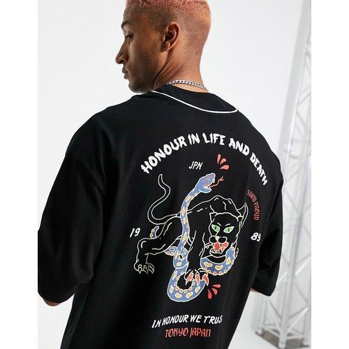 T-shirt oversize style baseball avec imprimé tatouage au dos - ASOS DESIGN - Modalova
