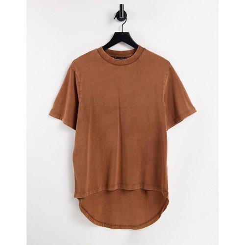 T-shirt oversizeà ourlet plongeant - délavé - ASOS DESIGN - Modalova
