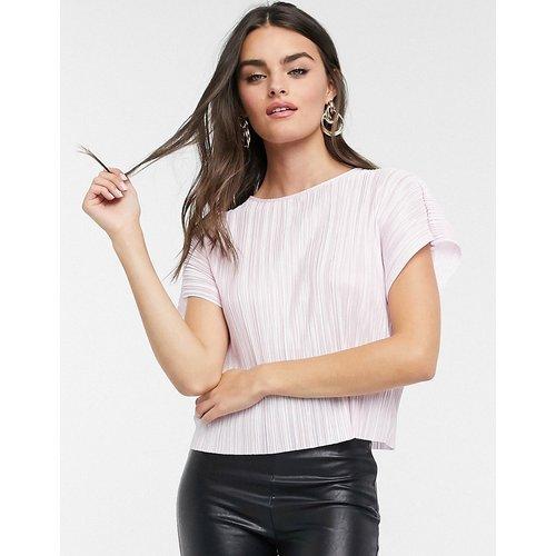 T-shirt plissé - Lilas - ASOS DESIGN - Modalova