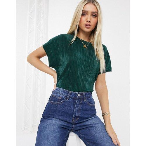 T-shirt plissé - foncé - ASOS DESIGN - Modalova