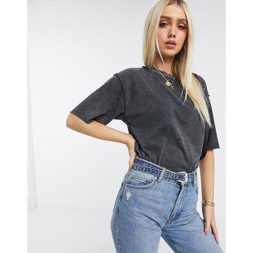 T-shirt ultra oversize avec coutures apparentes - Anthracite délavé - ASOS DESIGN - Modalova
