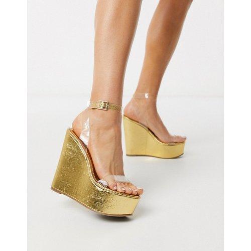 Takeover - Chaussures compensées - Transparent - ASOS DESIGN - Modalova