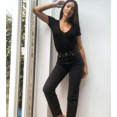 ASOS DESIGN Tall -Effortless - Jean stretch court évasé à taille haute - ASOS Tall - Modalova