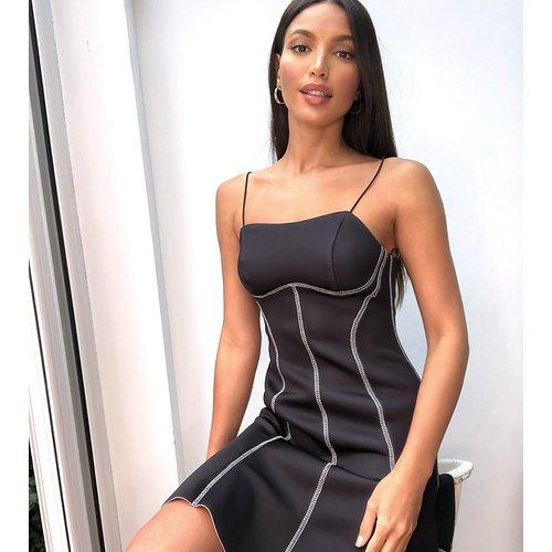 ASOS DESIGN Tall - Exclusivité - Robe courte avec haut caraco en surpiqûres et jupe patineuse - ASOS Tall - Modalova
