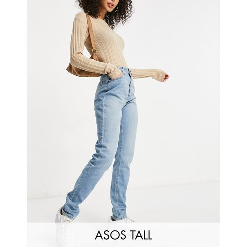 ASOS DESIGN Tall - Hourglass Farleigh - Jean mom slim taille haute délavé - ASOS Tall - Modalova