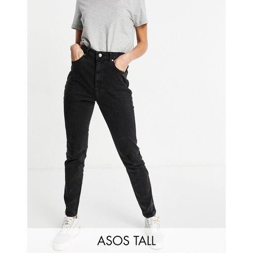 ASOS DESIGN Tall - Hourglass Farleigh - Jean mom slim taille haute - délavé - ASOS Tall - Modalova