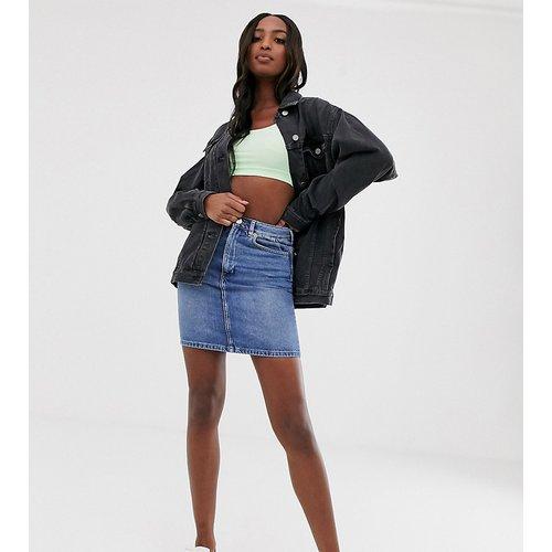 ASOS DESIGN TALL - Jupe taille haute en jean authentique - délavé - ASOS Tall - Modalova