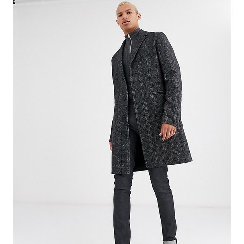 Tall - Manteau en laine mélangée à carreaux - ASOS DESIGN - Modalova