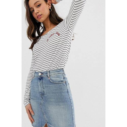 ASOS DESIGN TALL - Mini-jupe en jean - délavé clair - ASOS Tall - Modalova