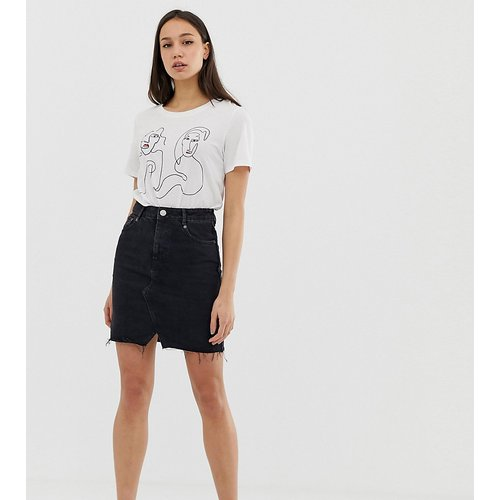 ASOS DESIGN TALL - Mini-jupe en jean - délavé - ASOS Tall - Modalova