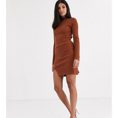 ASOS DESIGN Tall - Mini-jupe portefeuille d'ensemble à côtes - ASOS Tall - Modalova