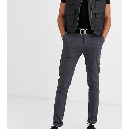 Tall - Pantalon chino ajusté - foncé - ASOS DESIGN - Modalova