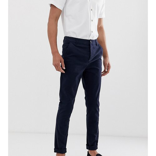 Tall - Pantalon chino skinny - Bleu marine - ASOS DESIGN - Modalova