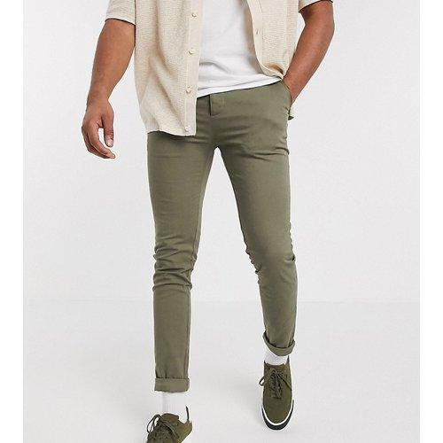 Tall - Pantalon chino skinny - Kaki - ASOS DESIGN - Modalova
