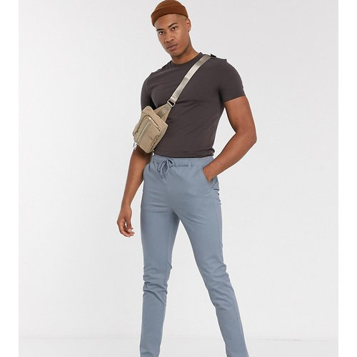 Tall - Pantalon chino slim avec taille élastique - foncé - ASOS DESIGN - Modalova