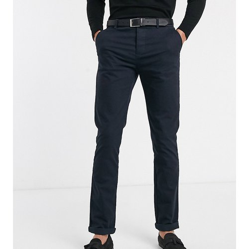 Tall - Pantalon chino slim - Bleu marine - ASOS DESIGN - Modalova