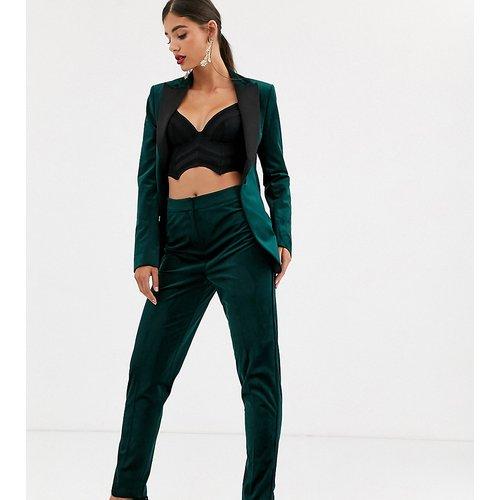 ASOS DESIGN Tall - Pantalon de costume slim style smoking en velours - ASOS Tall - Modalova