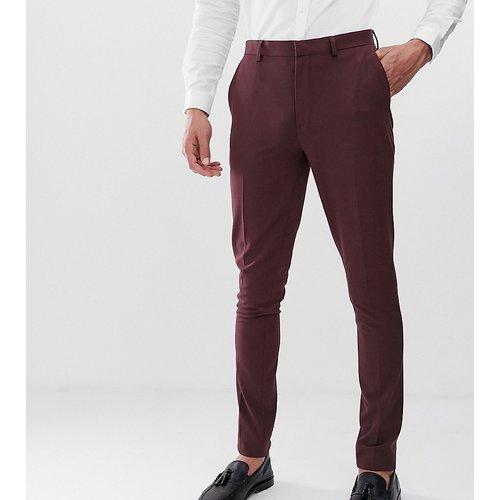 Tall - Pantalon de costume super slim - Bordeaux - ASOS DESIGN - Modalova