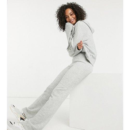 ASOS DESIGN Tall - Pantalon large en maille (ensemble) - Gris chiné - ASOS Tall - Modalova
