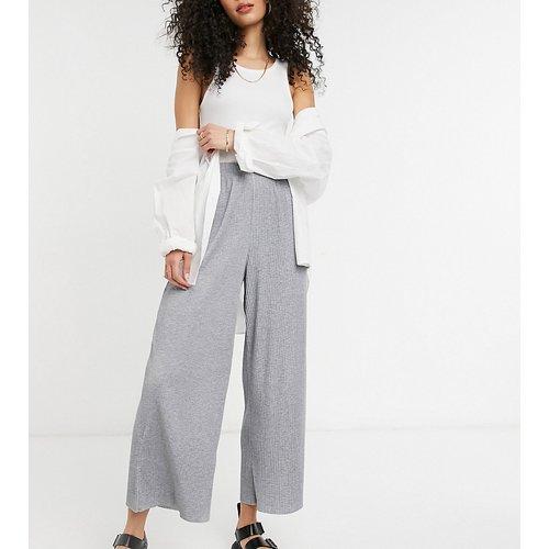 ASOS DESIGN Tall - Pantalon style jupe-culotte plissé - chiné - ASOS Tall - Modalova