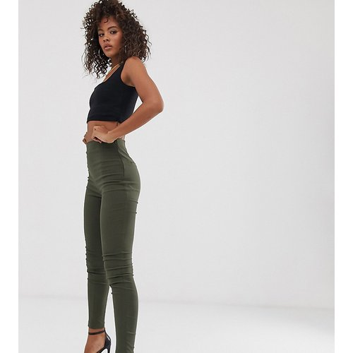 ASOS DESIGN Tall - Pantalon taille haute skinny - Kaki - ASOS Tall - Modalova