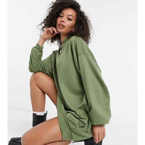 ASOS DESIGN Tall - Robe à capuche courte style sweat-shirt - Kaki - ASOS Tall - Modalova