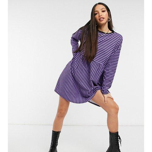 ASOS DESIGN Tall - Robe babydoll ultra oversize rayée à manches longues - Violet et - ASOS Tall - Modalova