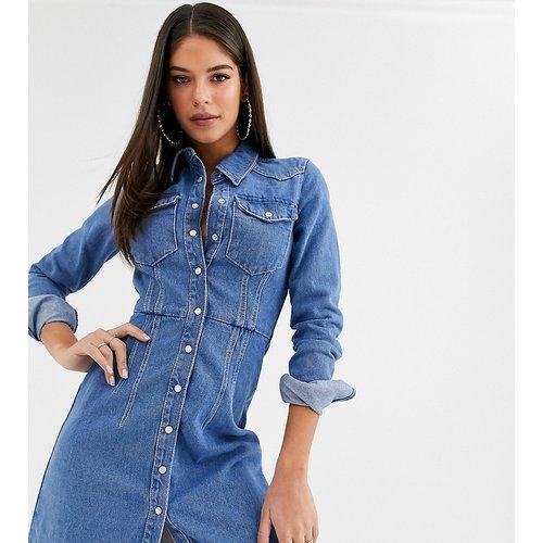 ASOS DESIGN Tall - Robe chemise structurée en jean - ASOS Tall - Modalova